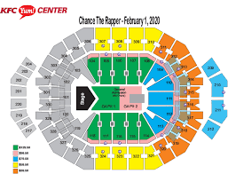Yum Center Detailed Seating Chart Yum Center Interactive Seating Chart Best Picture Of Chart