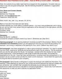 Vice President Cover Letter Infografika Assistant Vice Sample For