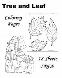 Printable leaf coloring pages for kids. Tree Leaf Coloring Pages