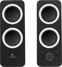 logitech computer speakers. logitech - z200 2.0 multimedia speakers (2-piece) black larger front computer