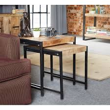 Indian Hub Cosmo Recycled Industrial Nest Tables
