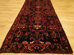 persian handmade wool mahal bidjar herati rose black