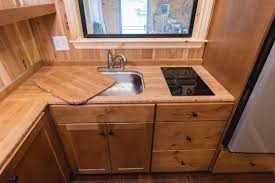 tiny house sink. California Tiny House Builder Creates Wooden Beauty On 24ft Trailer Sink N