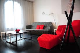 Deco Salon Gris Et Rouge