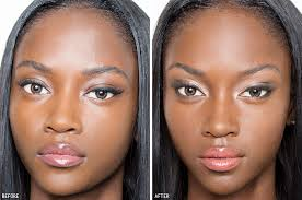 how to contour highlight dark skin