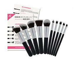 amazon new 11 piece contouring kabuki makeup brush set premium synthetic hair for face cheeks eyes powder liquid foundation mineral cream blush