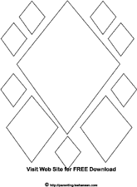 Small Picture Diamond Shapes Coloring Book Page