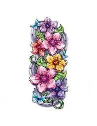 Barevné Květy Sakury Velké Nalepovací Tetování