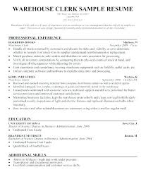 Manifest Clerk Sample Resume Adorable Shipping And Receiving Resume Socialumco