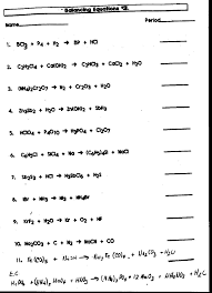 chemical word equations worksheet answers worksheets for all