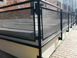 This photo about: Metal Stair Railing That Is Delicate for Modern Home,  entitled as Exterior Metal Stair Railings - also describes and labeled as:  Metal ...
