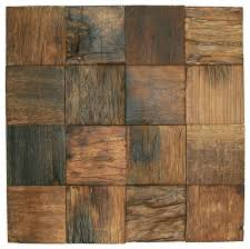 12 x12 reclaimed boat wood tile rustic wall and floor tile by pebble tile