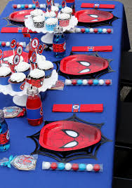 Spiderman Birthday Party Table Setting Spiderman Birthday Favors
