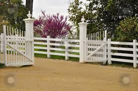 white wood fence. Brilliant Fence White Wood Fence And Gate Stock Photo A White Wooden Outdoor  By Throughout Wood Fence I