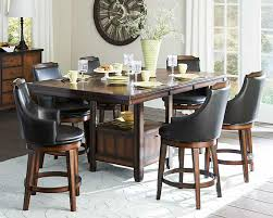 black dining room furniture sets. Image Of: Bar Stool Height Dining Table Set Black Room Furniture Sets F
