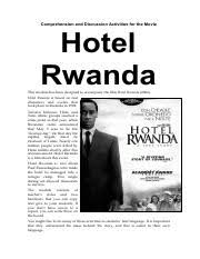 conclusion conclusively the film hotel rwanda is an adapter from 13 pages hotel rwanda