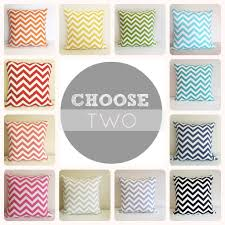 Etsy Throw Pillows Two Chevron Pillow Covers 20 X 20 Inch Accent Pillows Pink
