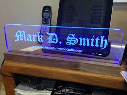 glass desk name plates design
