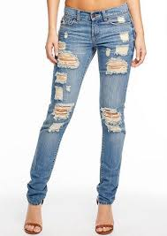 Danielle Destructed Relaxed Skinny Jean Plus Size Jeans