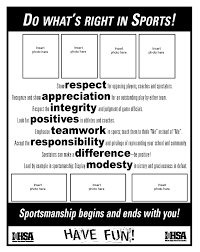 do what s right sportsmanship resources ihsa do what s right ad template