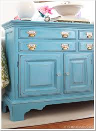 distressed blue furniture. How To Paint And Glaze Furniture Distressed Blue B