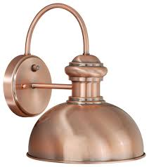 franklin 10 outdoor wall light copper