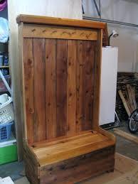 Cherry Finish Wood Hall Tree Coat Rack Entryway Bench And Coat Rack Seat Hall Tree Oak Finis On Home Styles 33