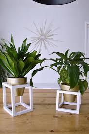 diy modern cube plant stand