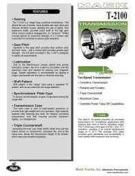 Mack Gear Ratio Chart Looking For Mack Transmission Ratios Engine And