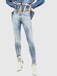 Light Blue Jeans For Girl Slandy 083ar Women Super Skinny Light Blue Jeans Diesel