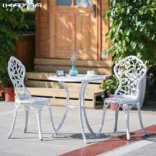 cheap modern outdoor furniture. ikayaa 3pcs modern outdoor patio set aluminum porch balcony black white garden furniture leaves design cheap