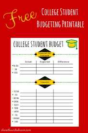 Student Budget Planner College Budget Template Free Printable For Students Free College