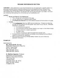 reference section of resumes