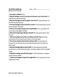 old man and the sea study guide questions and answer key tpt old man and the sea study guide questions and answer key