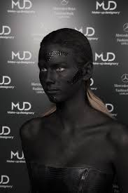 make up designory europe on mercedes benz fashion week designer marko mitanovski photo peter giodani key make up artist vanja djuran for mud make up