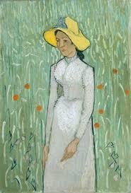 Junges Mädchen, vor einem Weizenfeld stehend