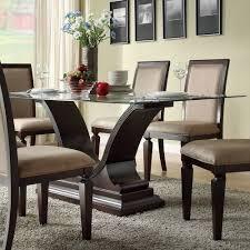 Buy Homelegance Plano Rectangular Glass Dining Table W U Shaped Base