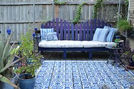 Diy Patchwork Rug Deck Traditional With Wood Blue Patio Furniture  I
