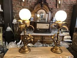 Hans Kögl Palmenlampe Antike Historische Deckenlampe Lampe