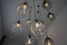 handcrafted glass pendant lighting