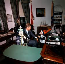 jfk years in office. Halloween Visitors With The President, 31 October 1963 Jfk Years In Office I