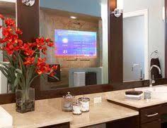 bathroom mirror must have built in tv