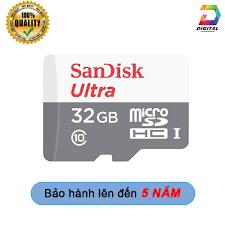 Thẻ Nhớ Micro SD Sandisk 32GB 80mb/s Chính Hãng Bảo Hành 5 Năm - Thẻ nhớ  máy ảnh Nhãn hàng SanDisk