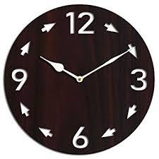 Buy Studio Shubham <b>Retro</b> Arrows <b>Wooden</b> wenge <b>Wall Clock</b>(26.5 ...