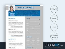 Usiris Blue Gray Modern Resume Template Resumgocom