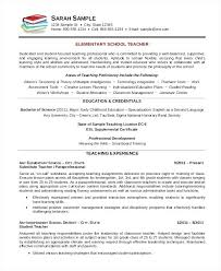 Resume Template For Teacher Adorable Example Of A Teachers Resume Teacher Resume Examples Teacher Resume