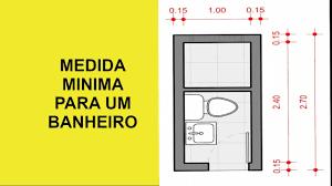 A medida padrão é de 60 cm de abertura, mas é preciso atenção para residências com cadeirantes. Tamanho De Banheiro Pequeno Youtube