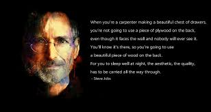 Steve Jobs Quote On Quality And Craftsmanship Create Something