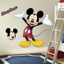 Mickey Mouse Bedroom Wallpaper Amazoncom Roommates Rmk1508gm Mickey Mouse Peel And Stick Giant