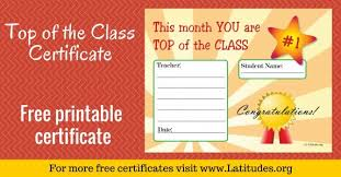 Printable Awards And Certificates Free Printable Award Certificates For Kids Acn Latitudes
